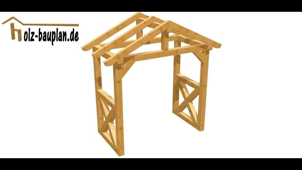 Vordach Einfach Selber Bauen  Youtube von Vordach Selber Bauen Bauanleitung Bild