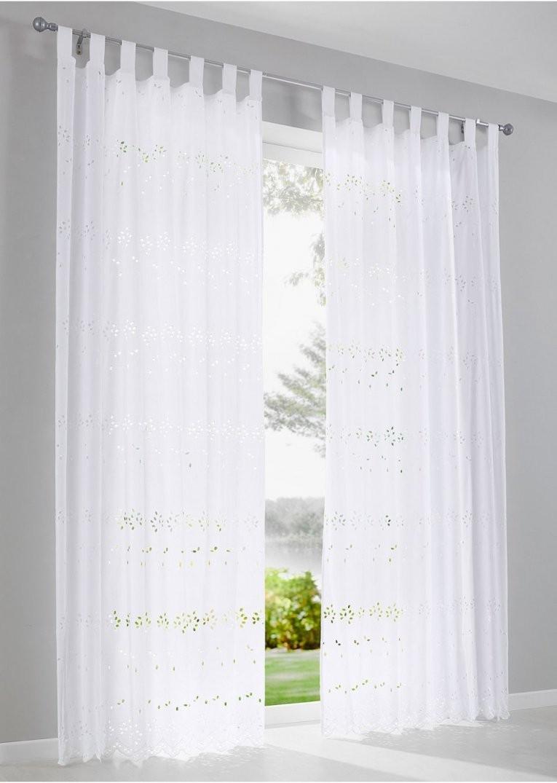 """Vorhang """"denise"""" (1Erpack) Weiß  Bpc Living  Bonprix von Gardinen Mit Kräuselband Aufhängen Bild"""