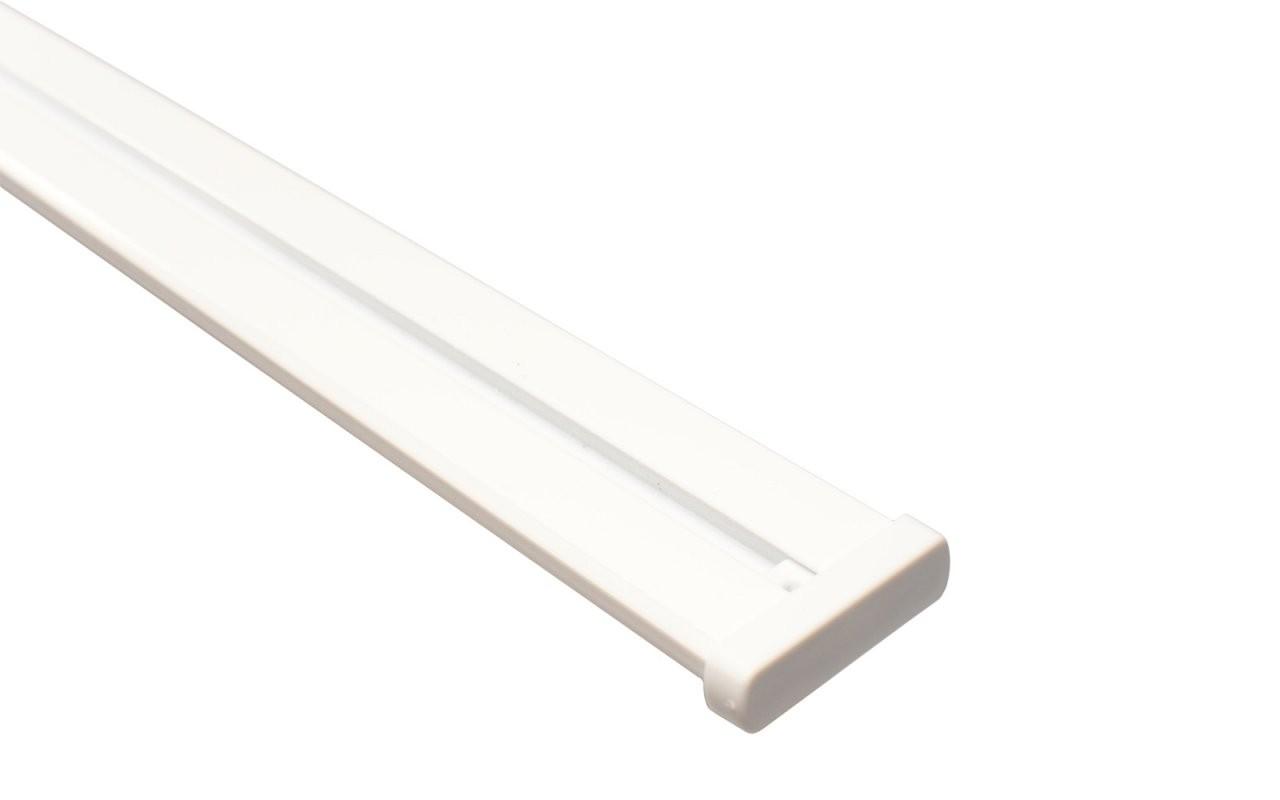 Vorhangschiene 2Läufig Weiß Aus Aluminium von Alu Gardinenschiene 1 Läufig Photo