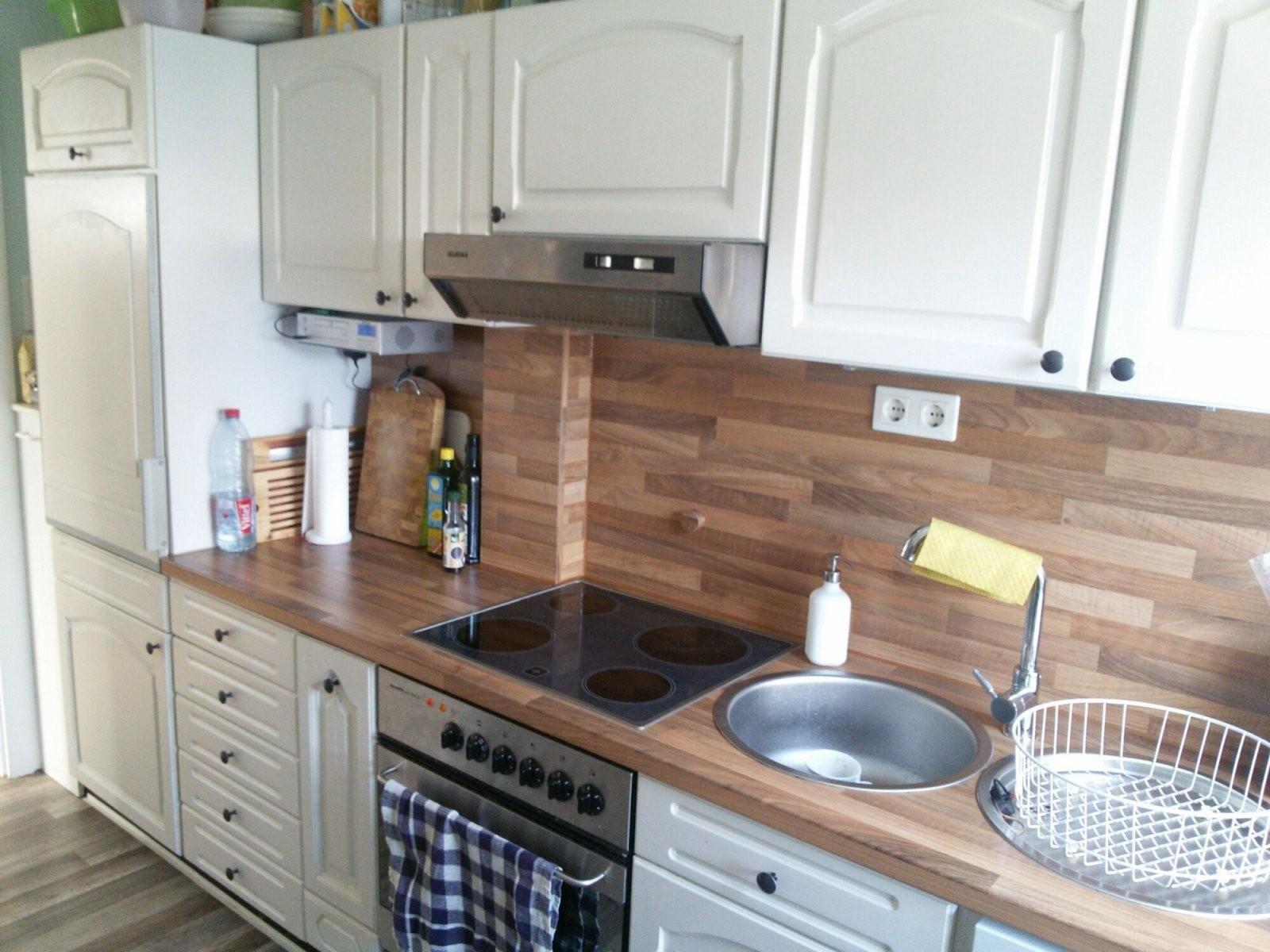 Vorhernachher Die Küche  Inspiracion Para Decorar  White Kitchen von Küche Eiche Rustikal Streichen Photo