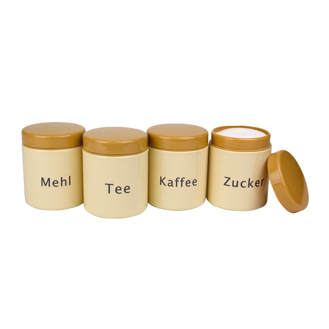 Vorratsdosen Set Retro 4Tlg Mit Deckel von Vorratsdosen Mehl Zucker Salz Keramik Bild