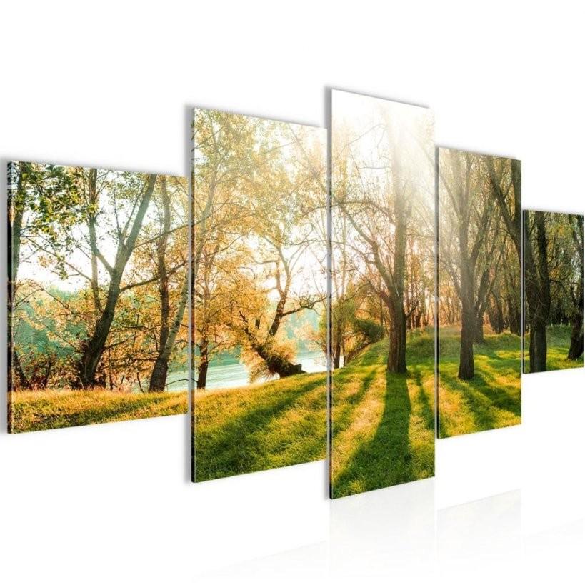 Wald Landschaft Bild 200X100 Cm − Fotografie Auf Vl  Real von Mehrteilige Bilder Auf Leinwand Photo