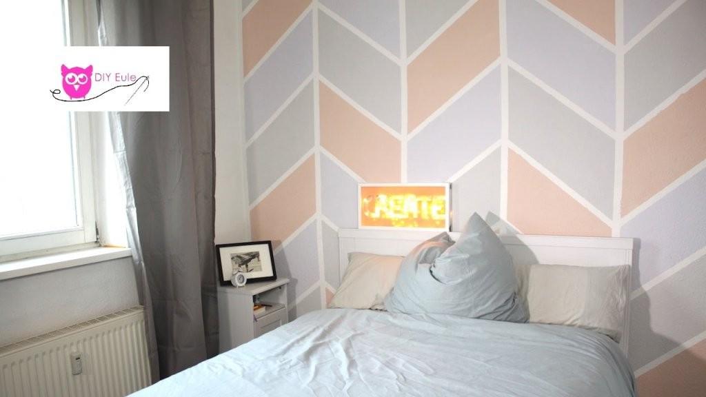 Wand Streichen Bunt Im Chevron Muster  Diy Eule  Youtube von Wand Streichen Muster Abkleben Bild
