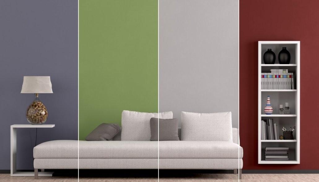 Wand Streichen Ideen Für Muster Farben  Streifen von Wände Farbig Gestalten Ideen Bild
