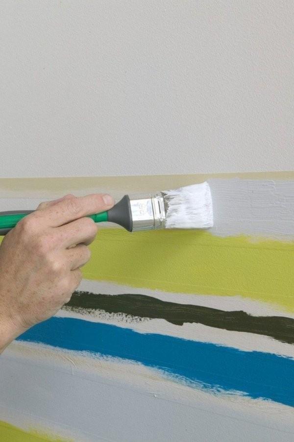 Wand Streichen Muster Und 65 Ideen Für Einen Neuen Look  Rooms In von Wand Streichen Streifen Abkleben Bild