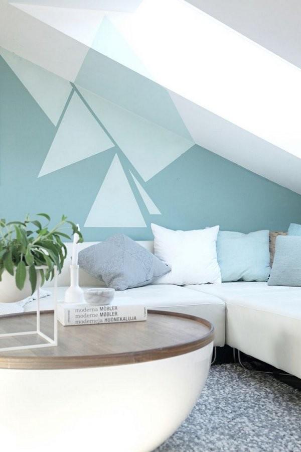 Wand Streichen Muster Und 65 Ideen Für Einen Neuen Look von Wand Streichen Muster Abkleben Bild