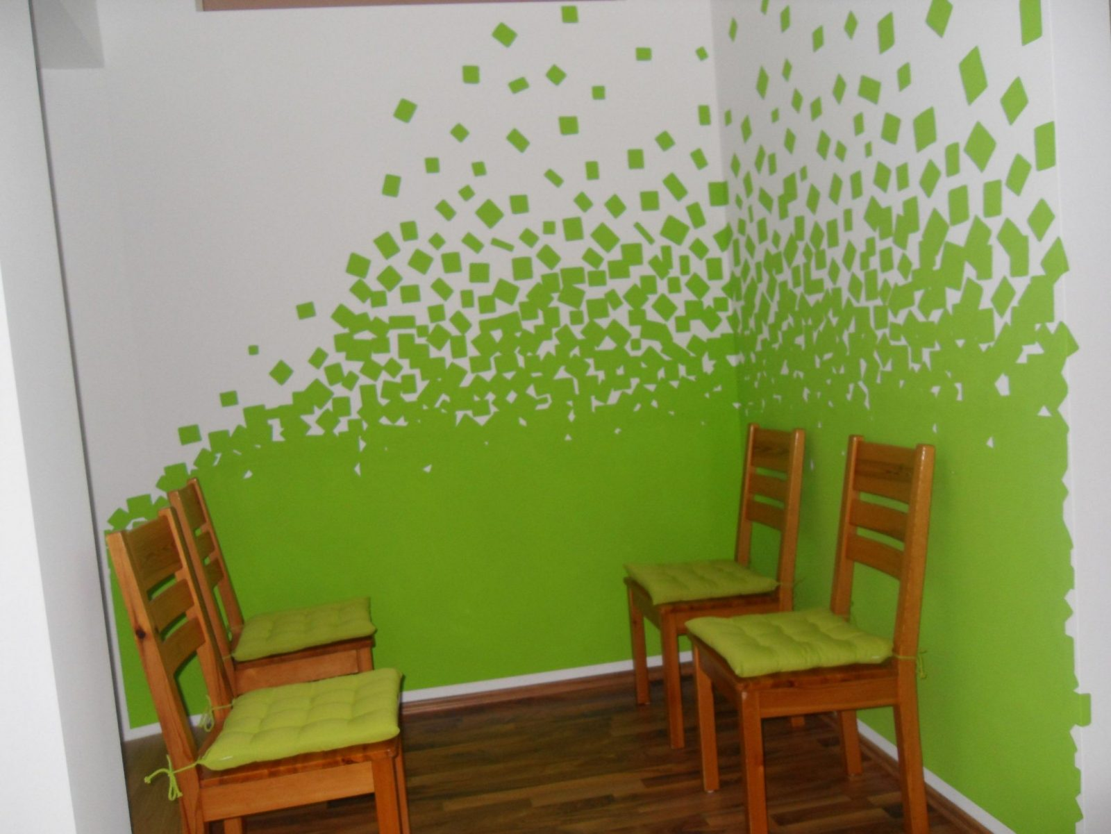 Wand Streichen Muster  Vorlagen von Wand Streichen Muster Abkleben Photo