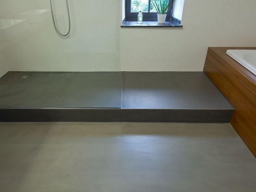 Wand06 Senza Das Fugenlose Bad Aus Kalk Marmor Putz  Farbrat von Kalk Marmor Putz Selber Machen Photo