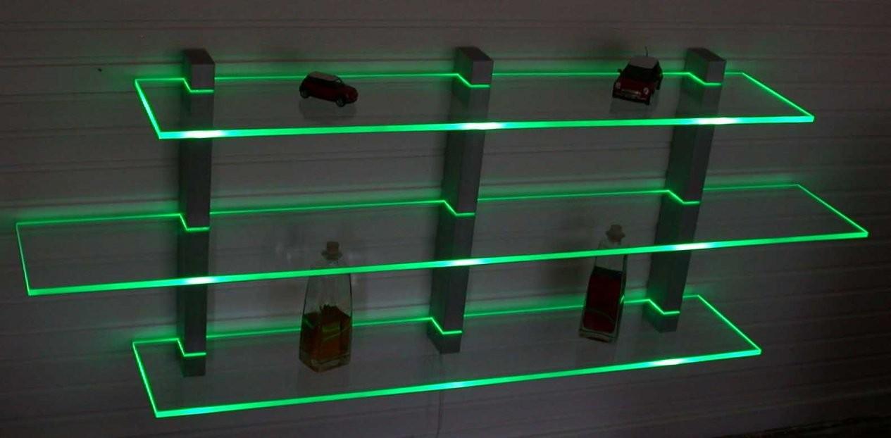 Wandboard Aus Aluminium Und Acryl Beleuchtet Mit Led Technik In Regale von Plexiglas Regal Selber Bauen Bild