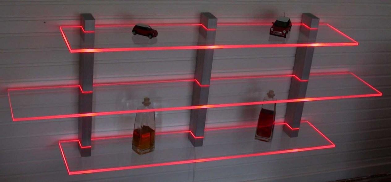 Wandboard Aus Aluminium Und Acryl Beleuchtet Mit Led Technik In von Plexiglas Regal Selber Bauen Bild