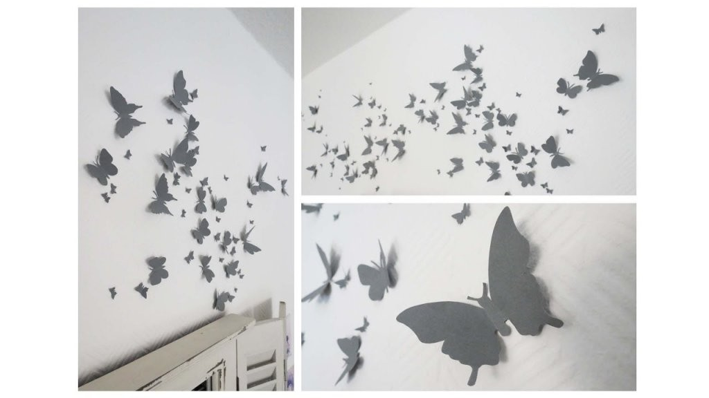 Wanddeko Aus Schmetterlingen * Butterfly Wall Decor [Eng Sub]  Youtube von Schmetterlinge Wanddeko Selber Machen Photo