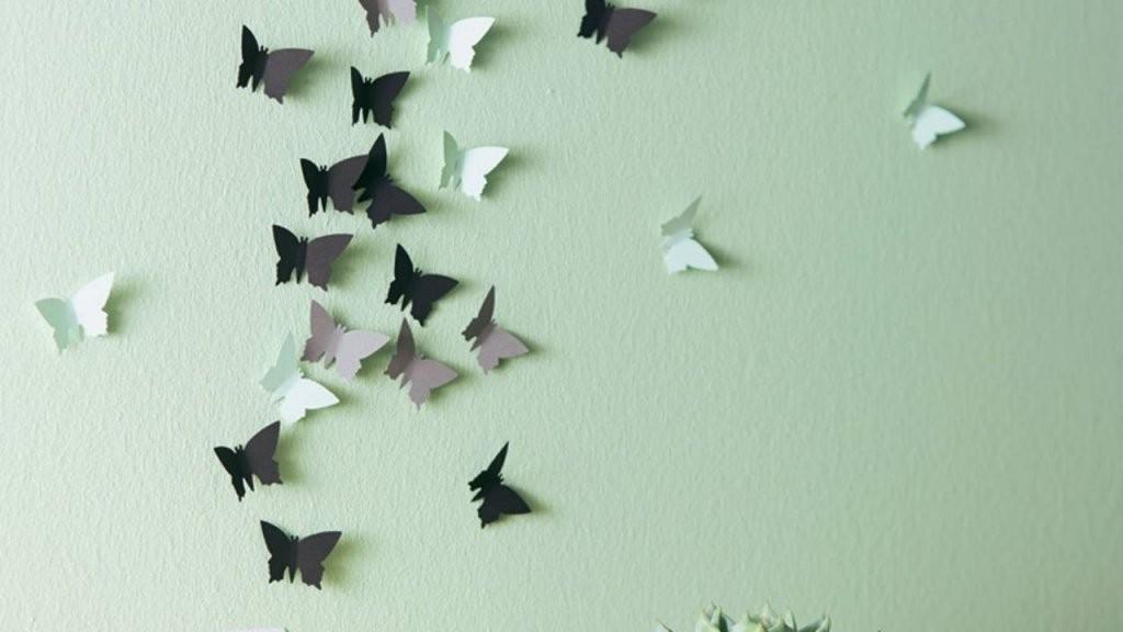 Wanddeko Mit Schmetterlingen  Einfach Selber Machen  Brigitte von Schmetterlinge Wanddeko Selber Machen Photo