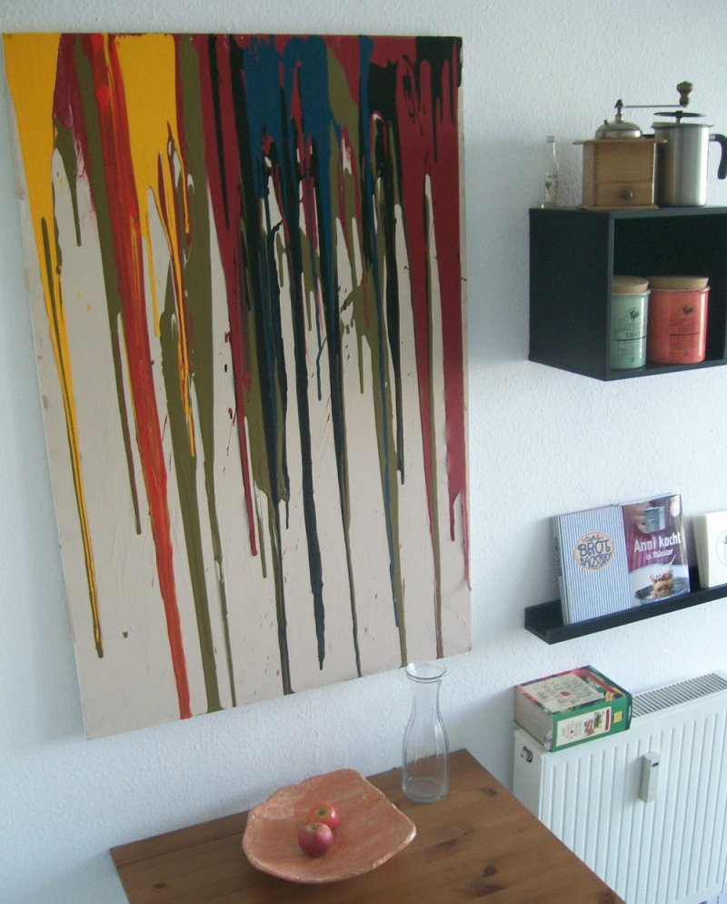 Wanddekoration Selbermachen  Kreatives Wandbild Selbst Gestalten von Kreative Bilder Selbst Gestalten Bild