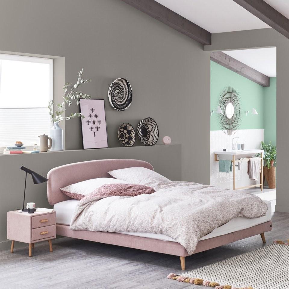 Wandfarbe Naturell Basaltgrau  Schöner Wohnen Kollektion von Schöner Wohnen Schlafzimmer Farbe Bild