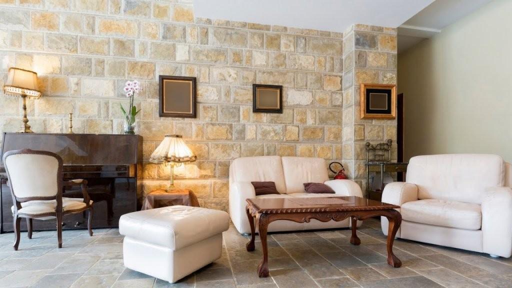Wandgestaltung Ein Traum In Steinoptik  Youtube von Säule Im Wohnzimmer Gestalten Bild