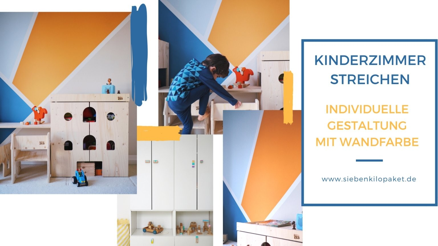 Wandgestaltung Im Kinderzimmer  Eine Kunterbunte Kreative Ecke Für von Wandgestaltung Kinderzimmer Mit Farbe Photo