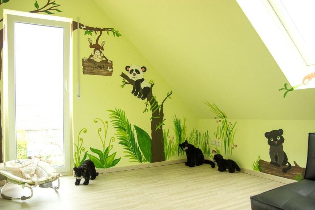 Wandgestaltung Kinderzimmer Junge Selber Machen  Kreative von Wandgestaltung Kinderzimmer Selber Machen Bild