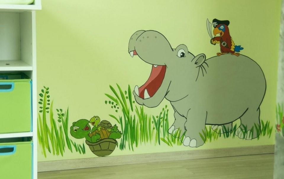 Wandgestaltung Kinderzimmer Selber Machen Fabelhaft Dschungel von Wandgestaltung Kinderzimmer Selber Machen Bild