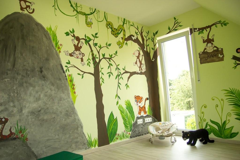 Wandgestaltungkinderzimmerdschungelselbermachen (10)  Mission von Wandgestaltung Kinderzimmer Selber Machen Bild