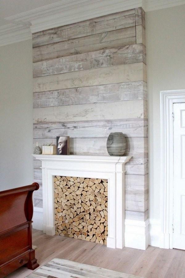 Wandpaneele Aus Holz Weiß Lasieren  35 Ideen Fürs Landhaus von Wandvertäfelung Holz Selber Machen Bild
