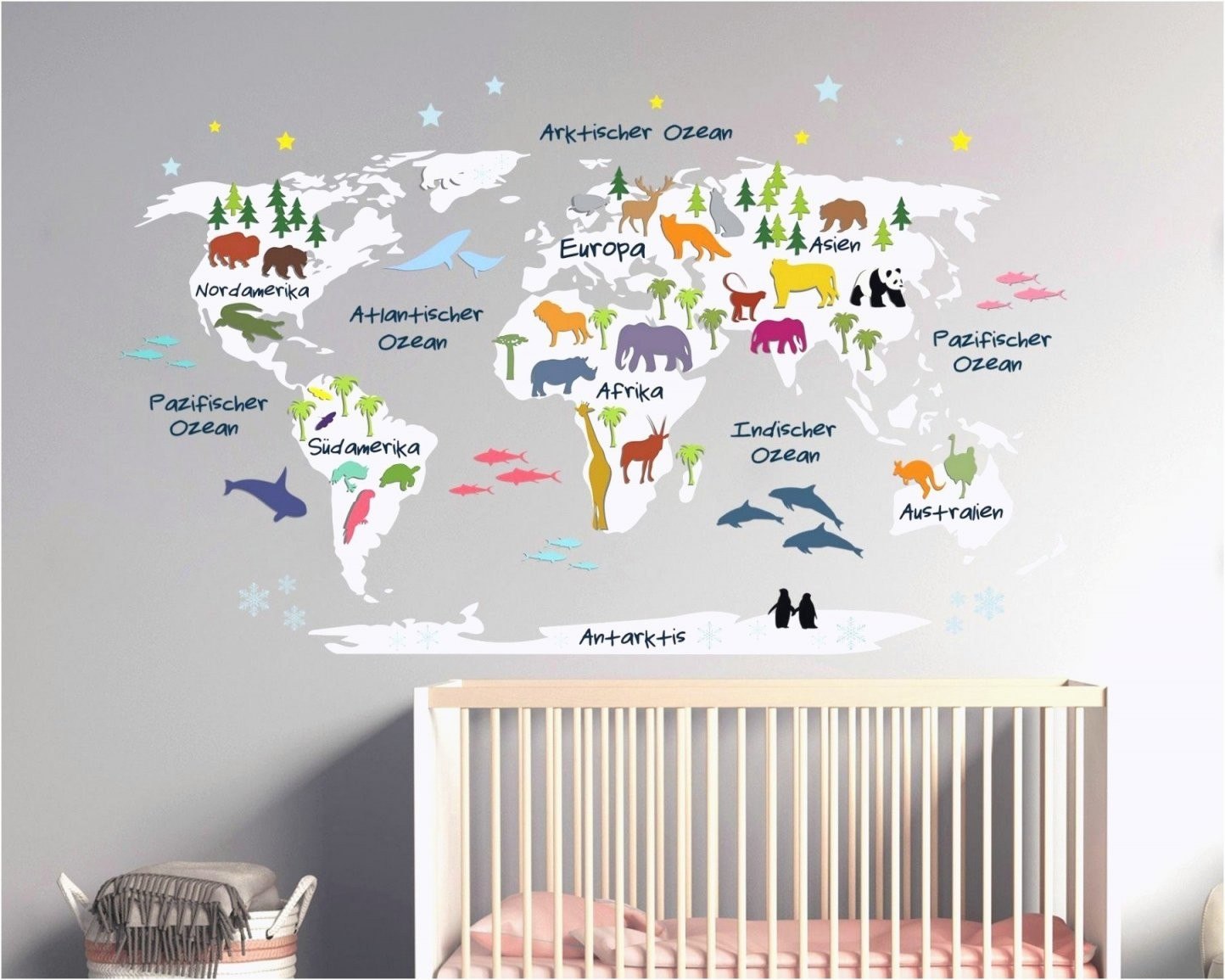 Wandschablonen Kinderzimmer — Haus Möbel von Wandtattoo Kinderzimmer Junge Tiere Photo
