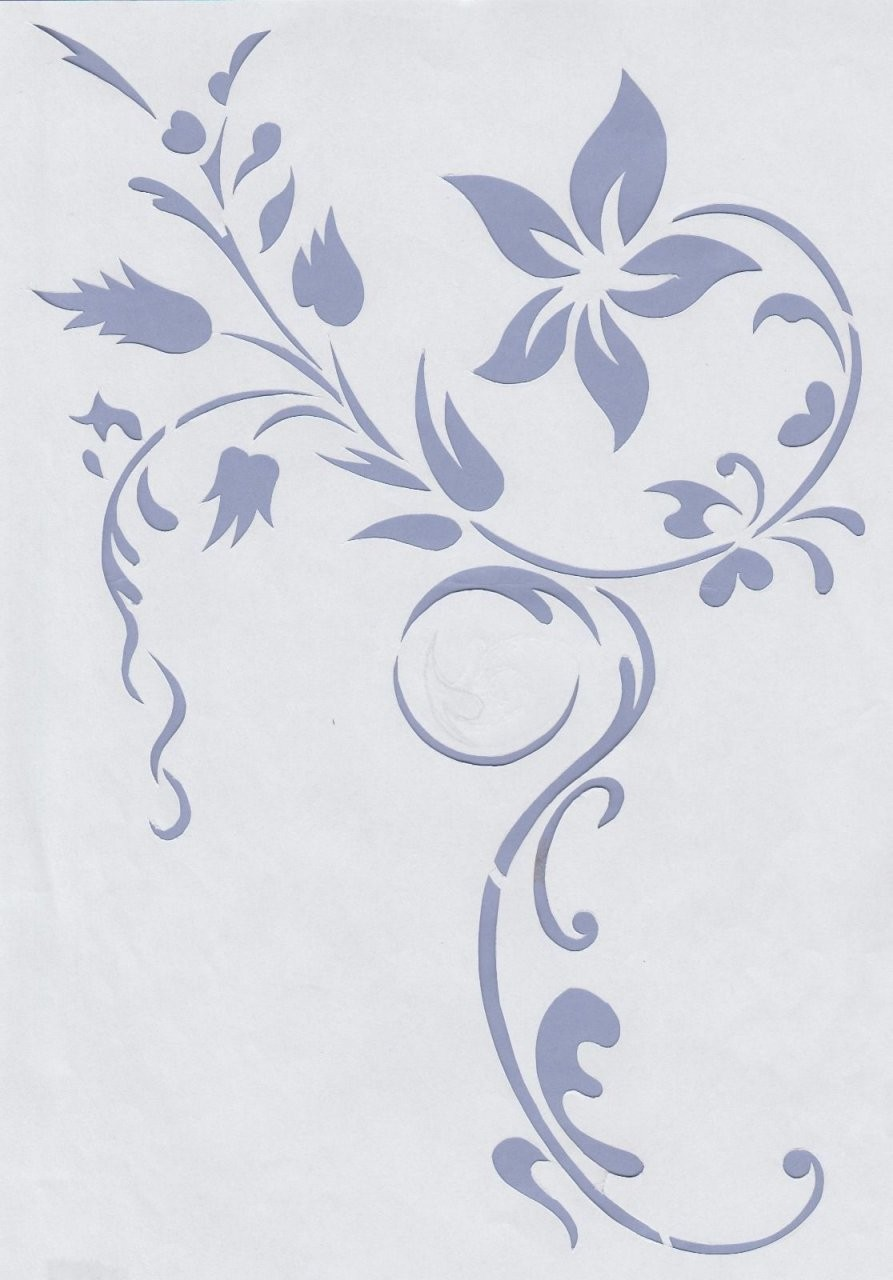 Wandschablonen Schablone Wandtattoo Ornament Modern In Möbel von Wandtattoo Selber Machen Vorlagen Photo