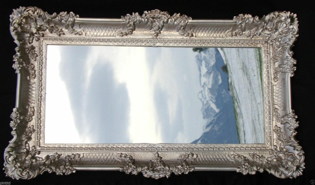 Wandspiegel Barock Antik Silber Spiegel Wand Deko 97X57 Groß von Barock Spiegel Silber Groß Photo