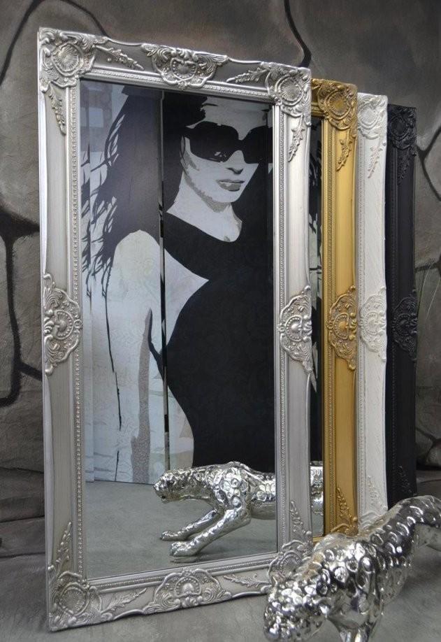 Wandspiegel Spiegel Barock Antik Modern Weiß Silber Gold Schwarz 100 von Barock Spiegel Silber Groß Bild
