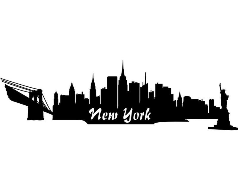 Wandsticker New York Skyline Wandtattoo Viele Farben Und Größen von Skyline New York Wandtattoo Photo
