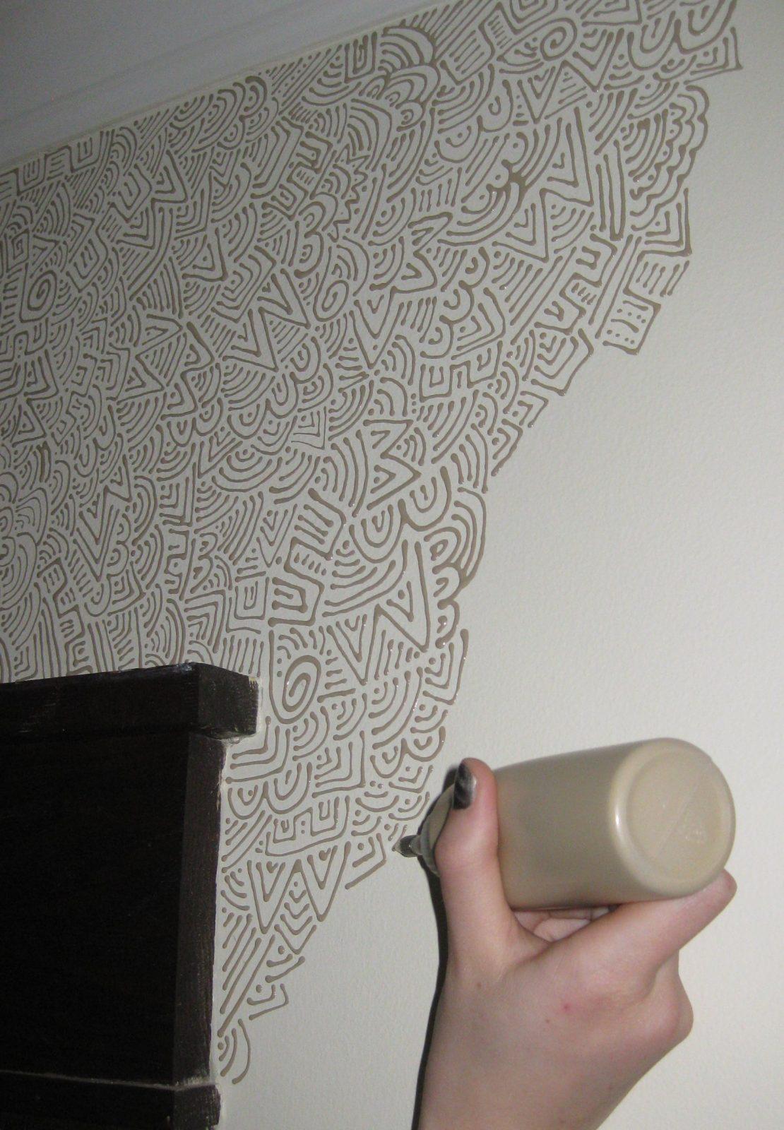 Wandstreichenideen Und Techniken Für Moderne Wandgestaltung von Ideen Zum Wände Streichen Photo