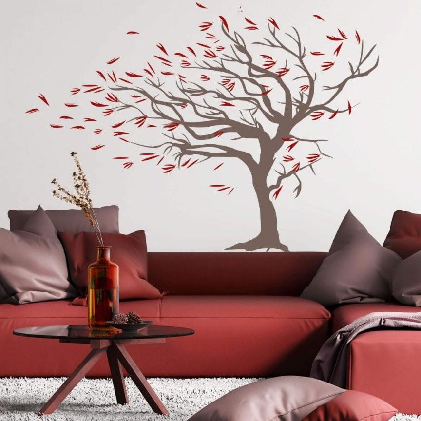 Wandtattoo Baum Im Wind (2Farbig)  Trenddekoch von Wandtattoo Baum Im Wind Bild