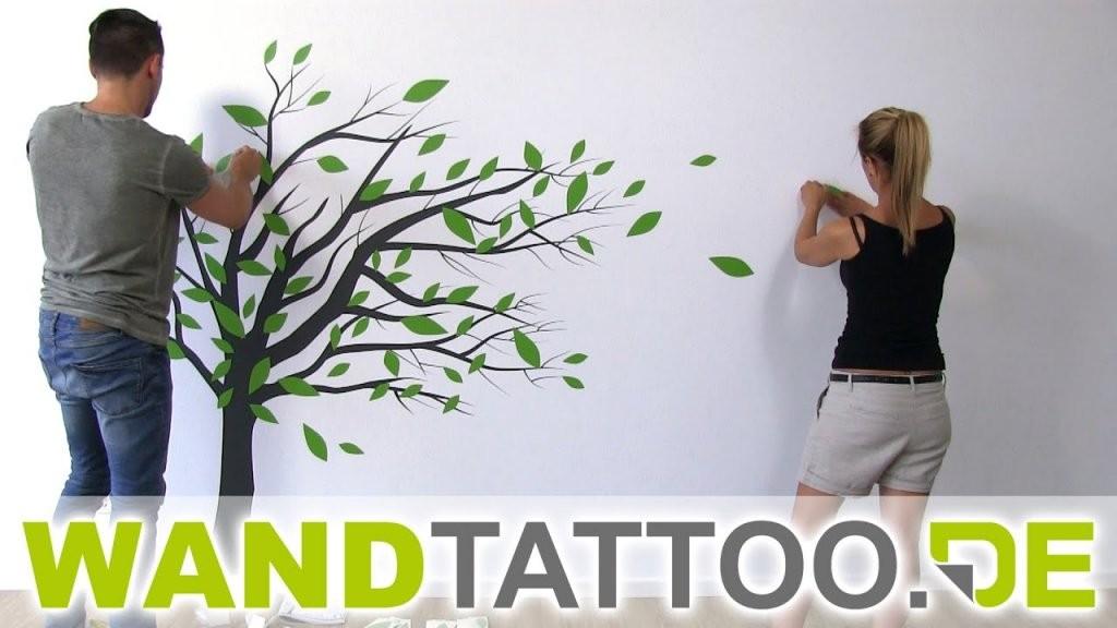 Wandtattoo Baum Im Wind  Anleitung Zum Anbringen  Youtube von Wandtattoo Baum Im Wind Bild