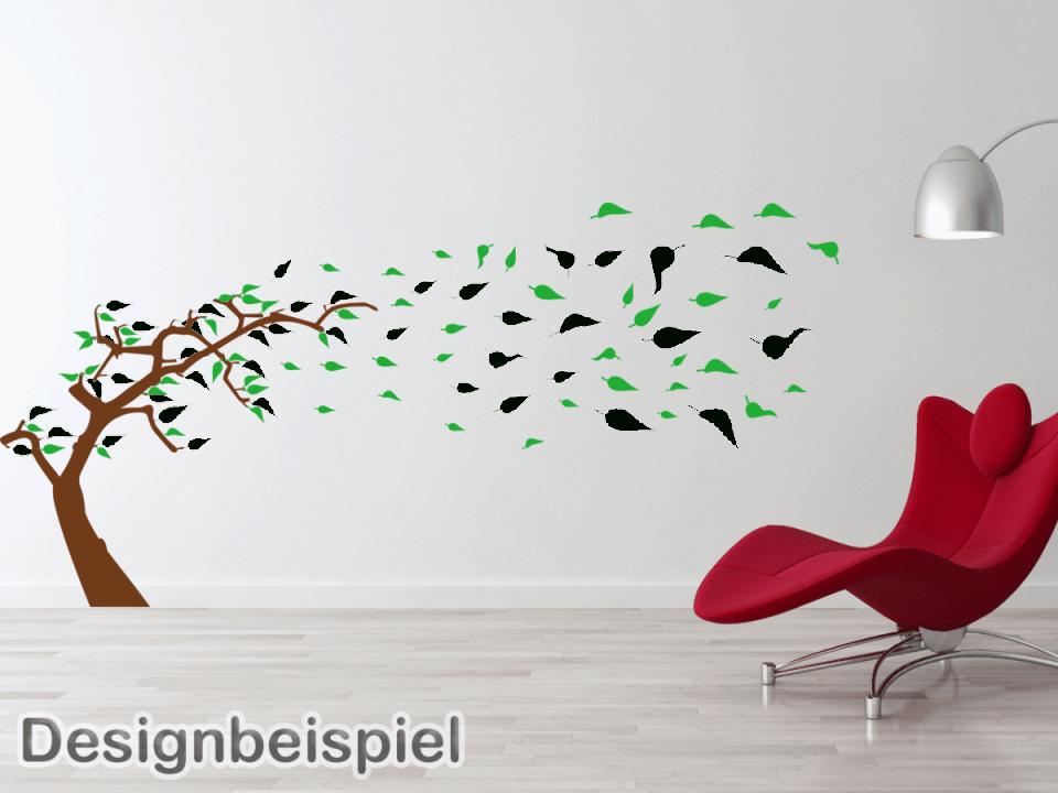 Wandtattoo Baum Im Wind Zweifarbig – Tocut von Wandtattoo Baum Im Wind Photo