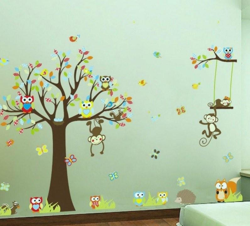 Wandtattoo Baum Kinderzimmer Makellos Wandtattoo Wandsticker von Wandtattoo Baum Kinderzimmer Xxl Bild