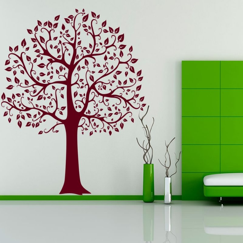 Wandtattoo Baum Linde Tree Laub Blaetter Natur Xxl  Sunnywall von Wandtattoo Baum Kinderzimmer Xxl Photo