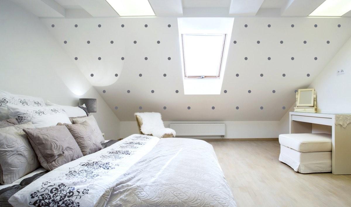 Wandtattoo Für Dachschräge  Ideal Für Kinderzimmer  Schlafzimmer von Deko Für Schräge Wände Bild