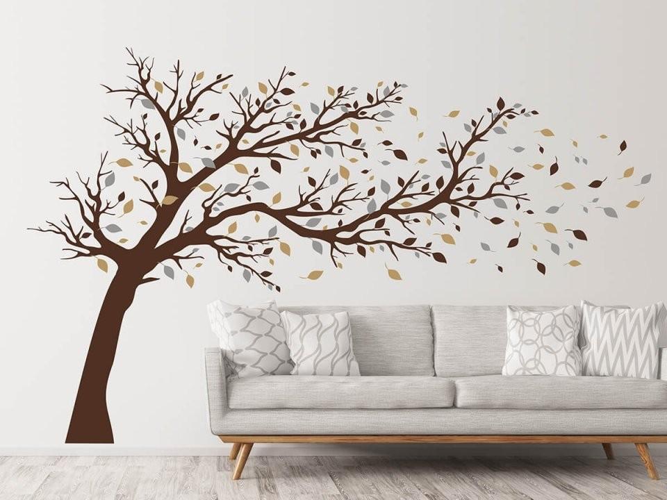 Wandtattoo Großer Baum Im Wind  Wandtattoos von Wandtattoo Baum Im Wind Photo