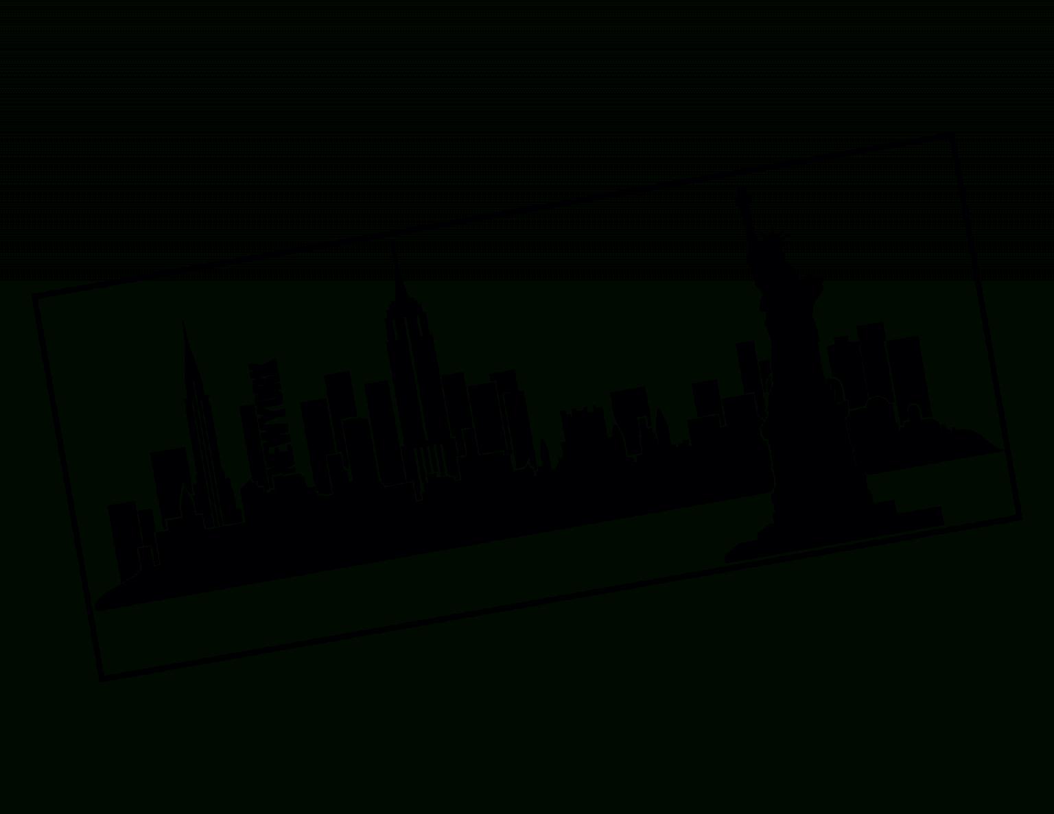 Wandtattoo Skyline New York von Skyline New York Wandtattoo Bild
