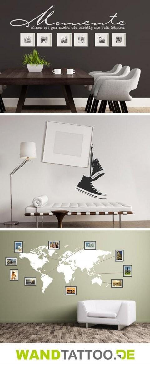 Wandtattoos Mit Bilderrahmen Kombiniert In 2019  Home Decor von Eigenes Foto Als Wandtattoo Bild