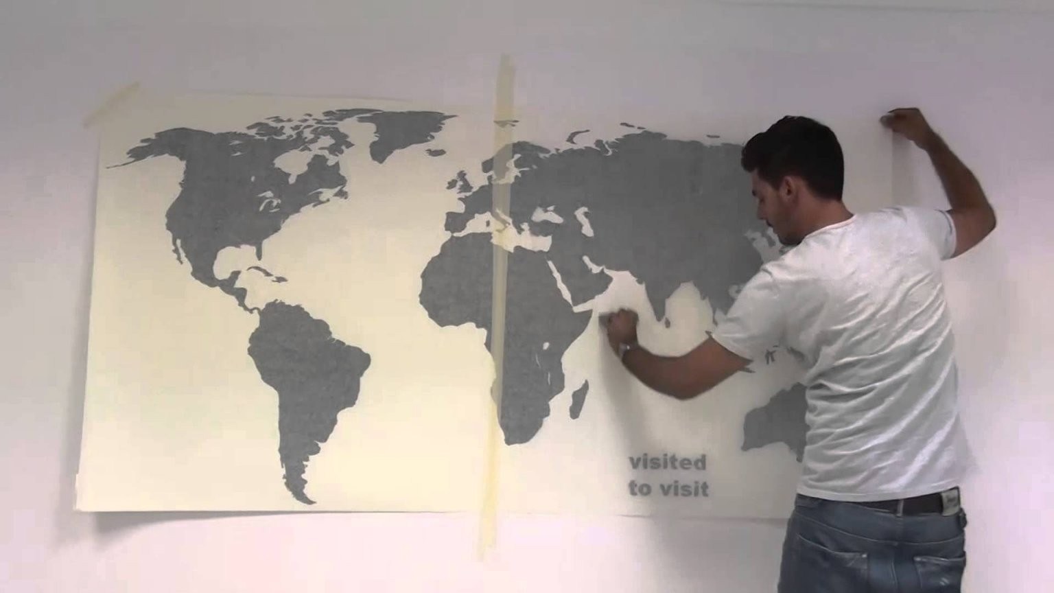 Wandtattoos Weltkarte Mit Stifte Aufkleber  Wie Sie Sich Bewerben von Weltkarte Pinnwand Selber Machen Photo