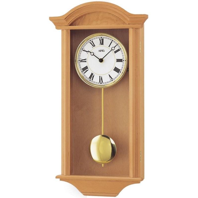 Wanduhr Holz Pendeluhr Wanduhr Mit Pendel Quarz Massivholz Erle von Wohnzimmer Uhren Mit Pendel Photo