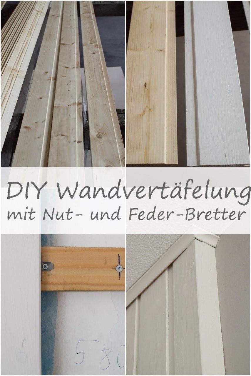Wandverkleidung Diy Aus Holz Mit Nut Und Federbretter Kreidefarbe von Wandvertäfelung Holz Selber Machen Photo