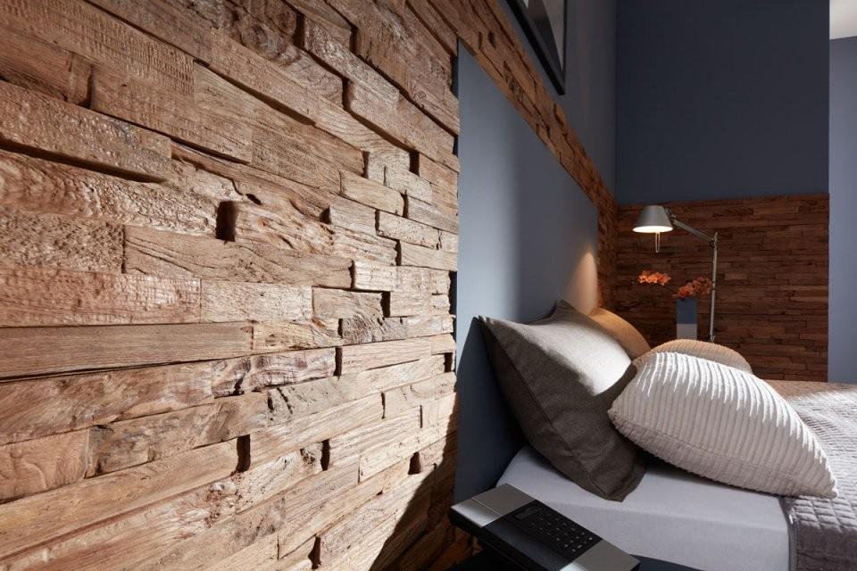 Wandverkleidung Selbst Verarbeiten  Entdecke Die Trends  Planeo von Wandvertäfelung Holz Selber Machen Bild