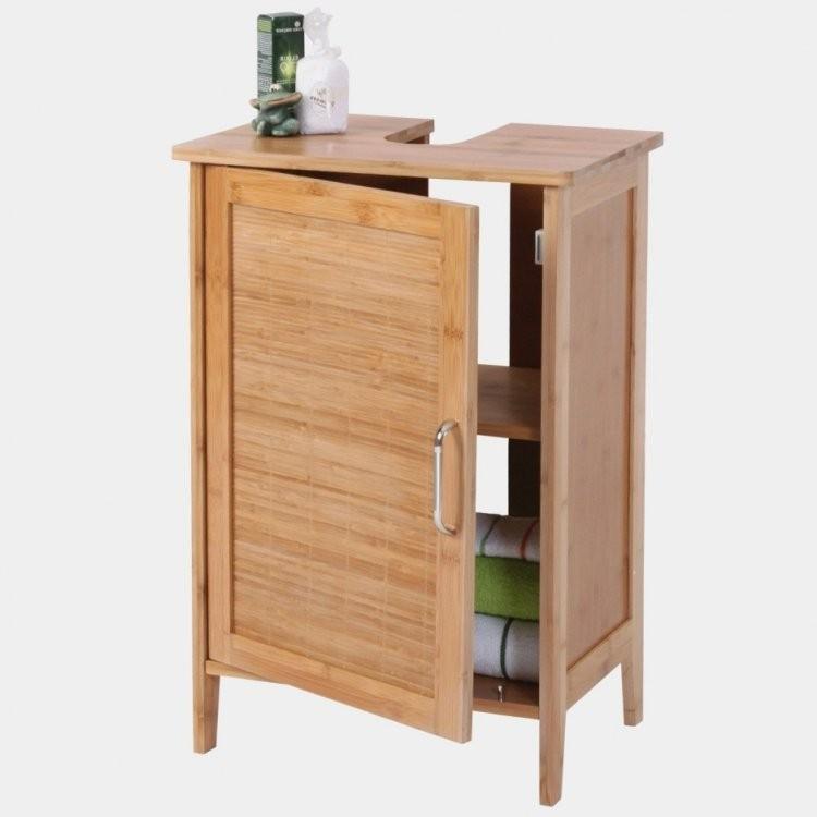 Waschbeckenunterschrank 50 Cm Breit Bambus  Schrank Regal von Bad Unterschrank 50 Cm Breit Bild