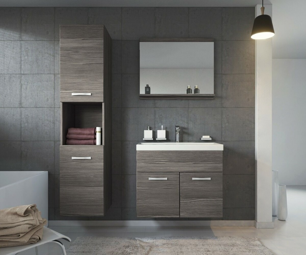 Waschbeckenunterschrank Badezimmermöbel Weiß Mit Kratzer *bware von Badezimmer Komplett Günstig Kaufen Bild