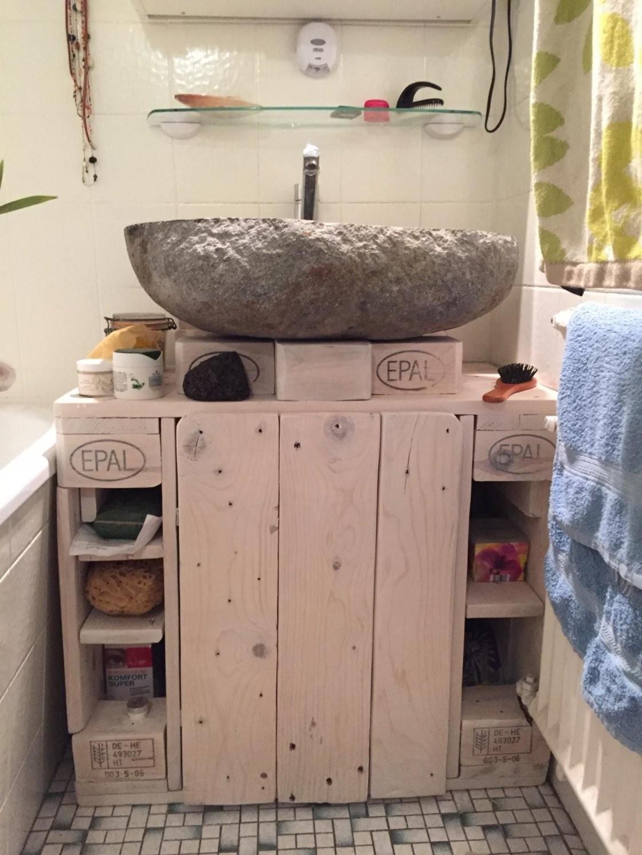 Waschbeckenunterschrank Badezimmerschrank Mk2 Aus Palettenholz von Bad Unterschrank Selber Bauen Bild