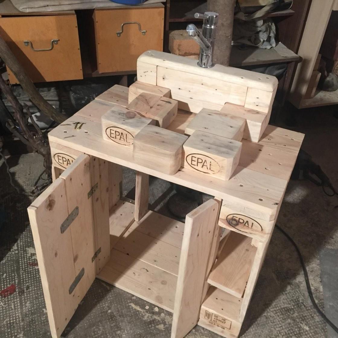 Waschbeckenunterschrank Badezimmerschrank Mk2 Aus Palettenholz von Bad Unterschrank Selber Bauen Photo