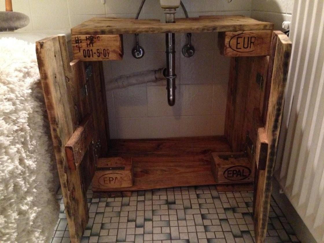 Waschbeckenunterschrank Selber Bauen Attraktiv Waschtisch Aus Holz von Unterschrank Für Aufsatzwaschbecken Selber Bauen Bild