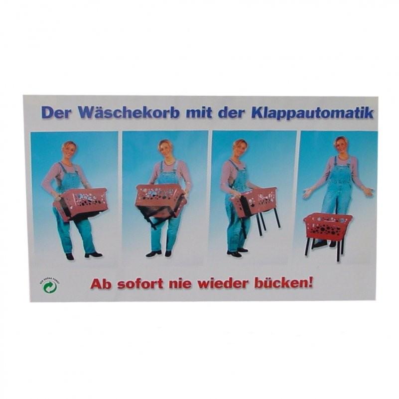 Wäschekorb Mit Klappbaren Beinen Klappautomatik Wäschesammler Ca 65 von Wäschekorb Mit Ausklappbaren Beinen Bild