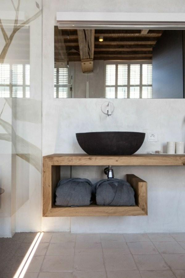 Waschtisch Aus Holz Für Aufsatzwaschbecken Bauen von Waschtisch Holz Mit Aufsatzwaschbecken Photo
